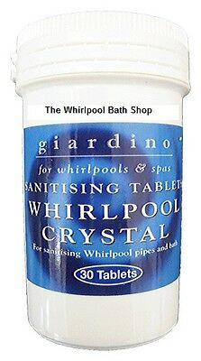 Whirlpool Spa Jacuzzi Bath Sanitiser Tablets (30 Tabs) Bathrooms Cleaner