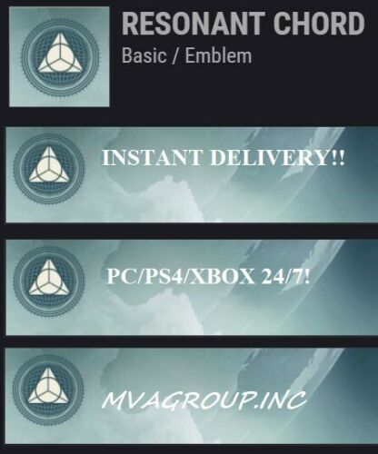 DESTINY 2 RESONANT CHORD  EMBLEM CODE - INSTANT DELIVERY!  (PC/PS4/XBOX)
