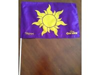 Wanted Disney on Ice Tangled merchandise - Flags, cup with straw, light etc.