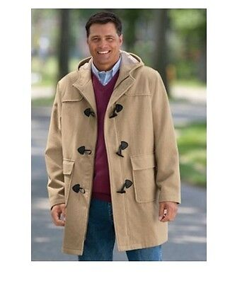 NWT MEN PLUS SIZE BIG AND TALL WOOL BLEND PARKA COAT  WINTER JACKET  MSRP (Big And Tall Parkas)