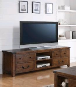 TV Unit - Distressed Pine - New