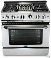 """Capital GSCR364GN Precision Series 36"""" Pro-Style Gas Range with"""
