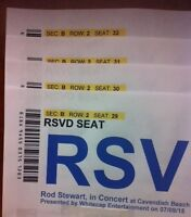 2nd Row Rod Stewart Cavendish July 9th, 4 tickets + hotel