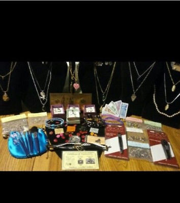 38PIECE JEWELRY LOT. GEMSTONE NECKLACES & PEARL NECKLACE& GF PEARL EARRINGS&MORE