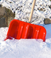 Snow removal and salting. Starting at $450 for the whole season