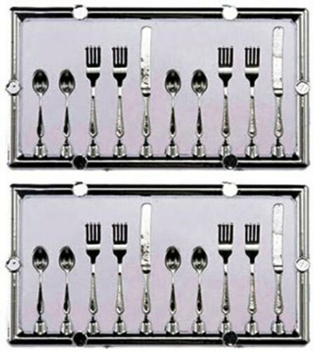 Dollhouse Miniature Silverware / Flatware Table Setting (20pc) - 1:12 Scale