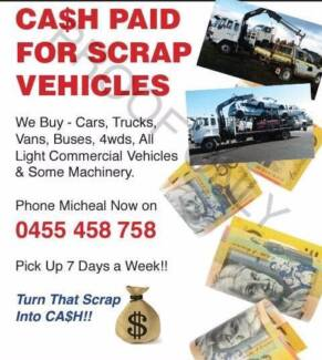 Wanted: Car Removal - Cash Paid For Scrap Cars