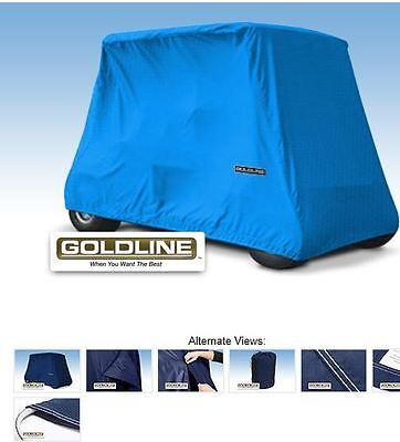Goldline Premium 4 Person Passenger Golf Car Cart Storage Cover, Royal Blue