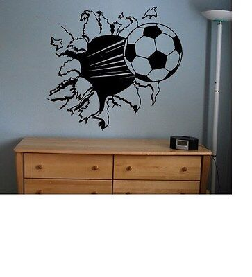 Soccer Ball sticker decal kids room decor sports football large bedroom wall big - Soccer Room Decor