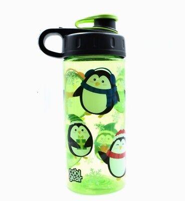 Water Bottles For Kids (Cute Lime Green Penguin Water Bottle for Kids- Cool)