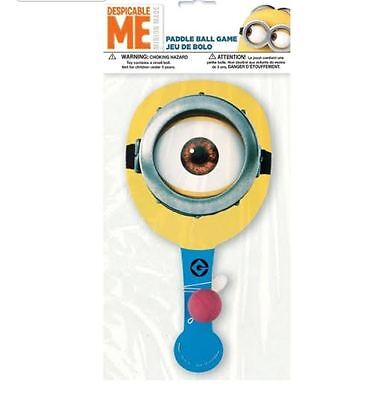 Minions Despicable Me 3 Paddle Ball Favors (Each) Birthday Party Supplies ()