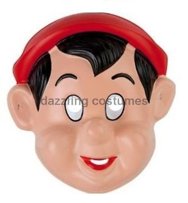 Pinocchio Mask Disney Boy Pvc Child Party Favour Toy Child Costume Accessory New (Pinocchio Halloween Costume Baby)