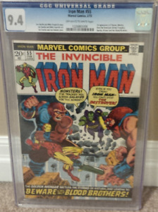 Iron Man #55 CGC 9.4...1st appearance of Thanos!