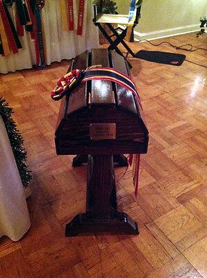 Wood Saddle Stand Mahogany Stain Showcase your English or Western Saddle