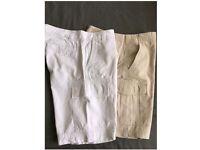 2x Men's Plain Cargo Combat Bermuda Shorts Summer Casual Cotton size 32