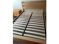 BENSONS Solid Wood Hip Hop Double Bed and a matching Bedside Drawer