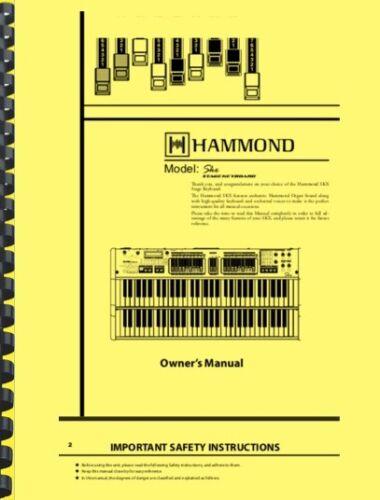 Hammond SKX Stage Keyboard Organ OWNER