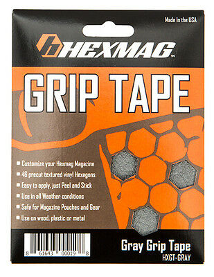 Hexmag Magazine Gray Grip Tape Decal .223 5.56 MAG Hex Sticker Grey  HXGT-GRAY
