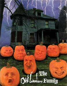 OH LANTERN FAMILY HALLOWEEN DECORATIONS  COMPLETE SET OF 8