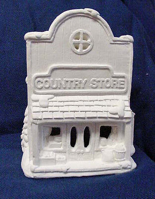 NWOT CREATIVE CRAFTS CALIFORNIA CREATIONS SE167 COUNTRY STORE UNPAINTED XMAS