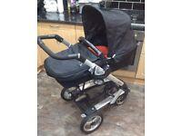 Mamas & Papas Skate pram buggy + jumper seat + car seat + 2 isofix