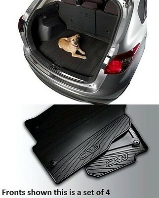 Mazda CX-5 Cargo Tray with Mazda CX-5 Set of 4  All Weather Floor Mats