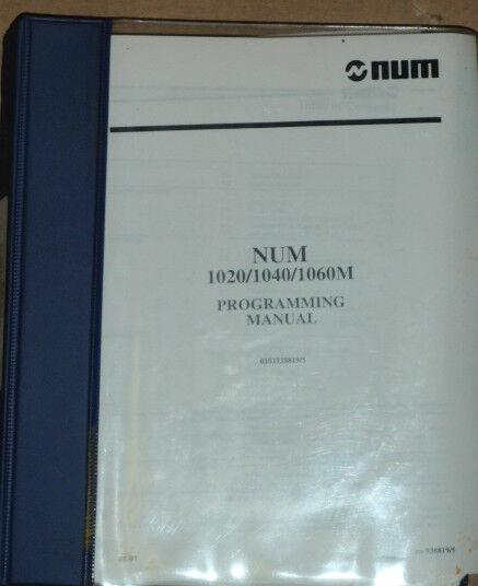 Num 1020 / 1040 / 1060M Programming Manual_1997_0101938819/5