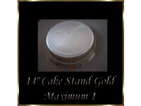 "14"" Gold Wedding Cake Napier Stand *Brand New*"