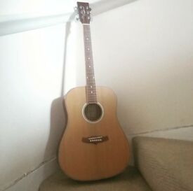 Beautiful Tanglewood Acoustic Guitar TW28 CLN with fabric carry case
