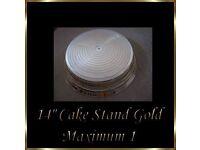 "14"" Gold Wedding Cake Napier Stand *Brand New*"