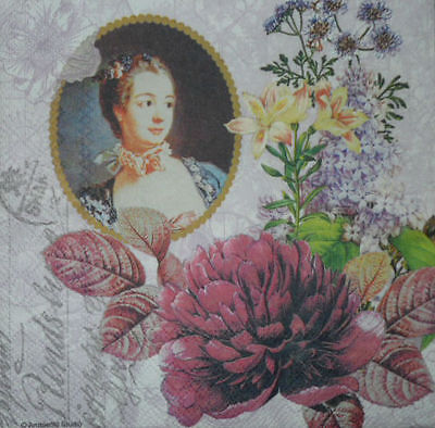 4 x Single Paper Napkins for Decoupage Crafting Party Vintage  People -19