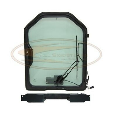 For Bobcat Front Door Kit G-series Skid Steer Cab Enclosure Glass Dual Cylinder