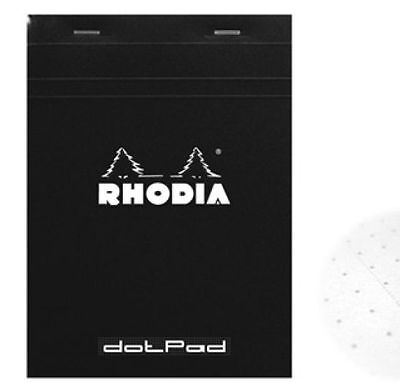 Rhodia Dot Pad - Black - Matrice Points 5mm - 80 Sheets - 3.375 X 4.75 - R12559