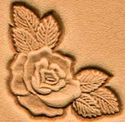 3D ROSE CORNER LEATHER STAMP 8534-00 Tandy Stamping Tool Craftool Stamps Tools