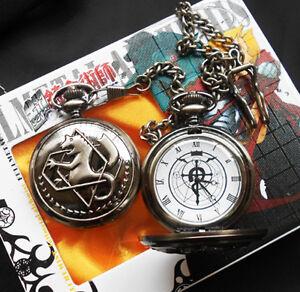 Fullmetal Alchemist Pocket Watch Necklace  Anime Edward Elric Anime Cosplay Gift