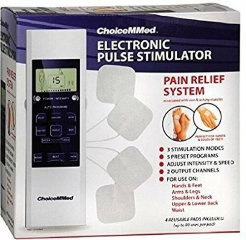 ChoiceMMEd Electronic Pulse Stimulator TENS Sore Muscle Back Pain Relief NEW!