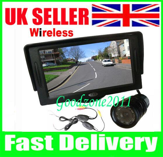 "9 IR LED Wireless Reversing Camera + 4.3"" TFT LCD Monitor Car Rear View Kit"