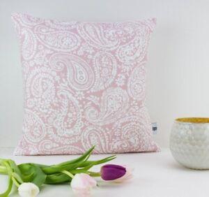 Blush Pink Paisley Pillows (Pair)