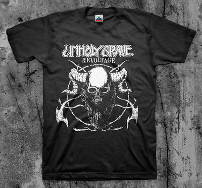 UNHOLY GRAVE 'Revoltage' T shirt (SOB Agathocles Mesrine Rot Insect Warfare)