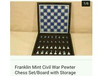 Natural history Civil war chess board