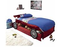 Red Car bed + spoiler with draw