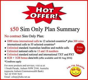 6GB/mth No Contract Unlimited National Calls Auburn Auburn Area Preview