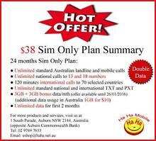 6GB Data/mth Unlimited Infinite Australian Landline & Mobile Call Auburn Auburn Area Preview