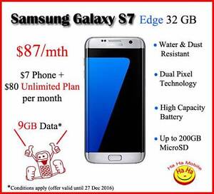 Samsung Galaxy S7 edge 4G 32GB Black, Gold & Silver Auburn Auburn Area Preview
