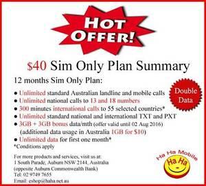6GB Data/mth Infinite Unlimited standard Australian Calls & TXT Auburn Auburn Area Preview