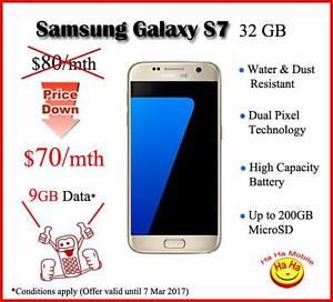 Samsung Galaxy S7 4G 32GB Gold, Black & Silver 9GB data Auburn Auburn Area Preview
