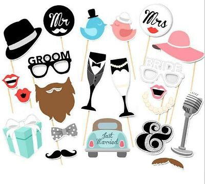 22pcs PACK x DIY Photo Booth Props Wedding Decoration Birthday Party Mask - Cheap Photo Booth Props