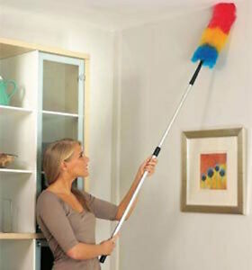 Extending Telescopic Bendable Feather type Duster Dust Genie