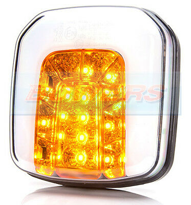 WAS W169 SQUARE NEON LED FRONT SIDE AND INDICATOR COMBINATION LIGHT LAMP TRACTOR