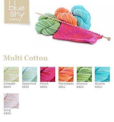 Blue Sky Alpacas Multi Organic Cotton Yarn Super Soft Select Your Color ()